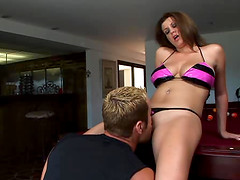 Busty Sara Stone decides to do some cock sucking and riding