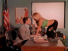 Pleasing and screwing cum-craving Brittany Andrews on a desk