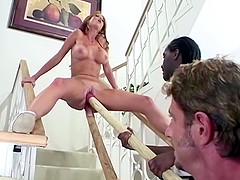 Stretching her pussy to its absolute limit