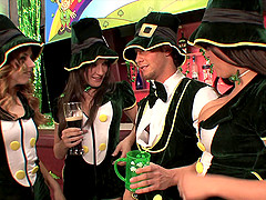 Awesome Saint Patrick's Day orgy with lusty Amy Brooke