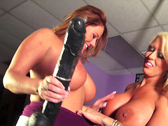 Alura Jenson and Kate Faucett are curious about a massive toy