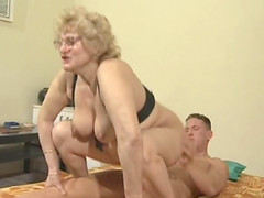 Granny Mary screwed hardcore doggystyle while she moans