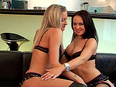 Angel Long and Elizabeth Lawrence get naked and have fun with toys
