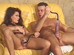 Horny lovers have a great time while playing with toys