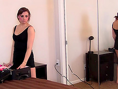 Brunette Page moaning while doggystyle throbbed hardcore
