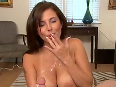 Hot handjob cumshots compilation