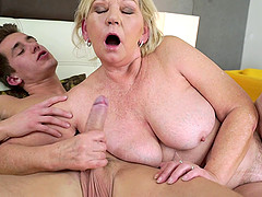 Irene is a hot mature blonde who likes playing with a dick