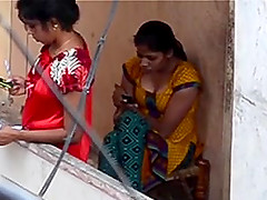 Desi voyeur on balcony