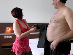 Jade Love gets rid of her clothes and gets down on her knees