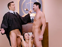 Double penetration of a judge Kristina Rose to make her more disciplined