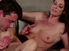 India Summer spreads her legs for a pussy craving stallion