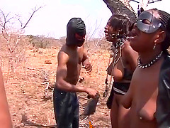 Huge titted ebony slaves are doing what they have been bought for