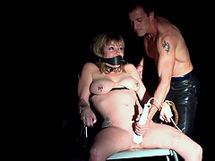 Adrianna Nicole is a tied up babe ravished by a nasty master
