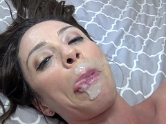 Fake-titted Ariella Ferrera bouncing on a throbbing wiener