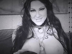 Black and white threesome with a seductress Ariella Ferrera