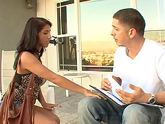 Evi Foxx enjoys taking off her clothes and getting pounded by a hung dude