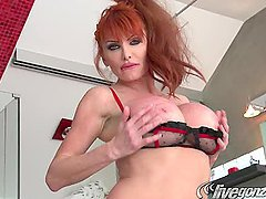 Ravishing Redhead Gets Ravaged By A Big Juicy Rod