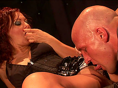 His delicious cock was enough to satisfy cute girl Sandra Romain