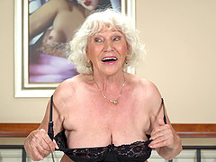 Handsome guy finally agrees to bang naughty granny Norma