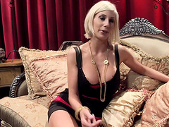 Playing with a long dildo pleases both Puma Swede and another lesbian