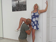 Kathy Anderson pounded from behind by a big black cock