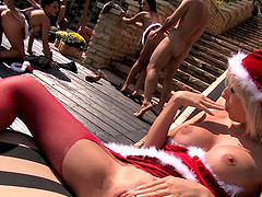 Helena Sweet and her slutty friends in a hardcore outdoors orgy
