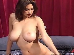 Horny Tera Patrick performs striptease and then sucks a cock