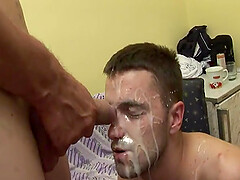 Gay couple fuck their ass and enjoy each other cums