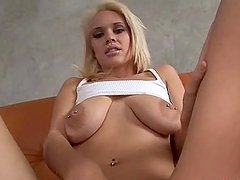 Kissy Kapri the stunning blonde gets fucked in the ass