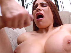 Busty Wife Sheila Marie Hardcore Couch Sex