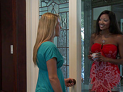 Lesbian interracial intercourse with Elexis Monroe and Diamond Jackson