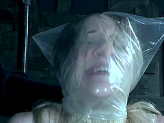 Blue eyed blonde slave Violet October cries while getting tortured