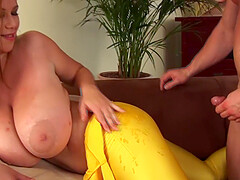 chubby monster tits babe terry nova gets rough fucked in her tight closed spandex catsuit