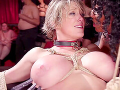 Nikki Darling and one moge girl enjoy hardcore sex games in the group