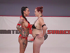 Inked whore Lily Lane pounded in the ring by Johnny Starlight