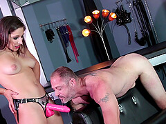 Abella Danger uses a strapon to satisfy dirty desire of her frined