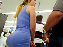 Kinky voyeur walks around and films big butts in public places