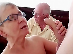 horny granny wants to show all her sexual skills to her young neighbor