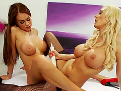 white vibrator can please the sexual desires of Paige Ashley and Stacey Saran