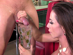 Throbbing dick for seductive brunette pornstar Ariella Ferrera