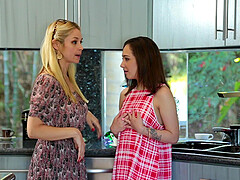 Sarah Vandella is ready for amazing threesome with horny Lily Jordan