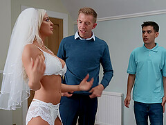 Future bride Sienna Day enjoys hard threesome with her horny lovers