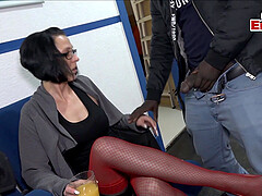 german devot and femdom lady threesome