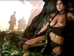 Sexy ass Lara Croft taking dicks in her ass compilation part 21