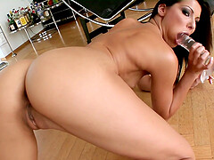 Adorable Cindy Hope masturbates using her dildo and dirty mind