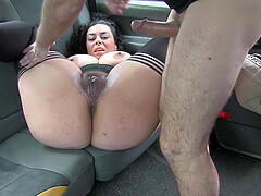 Mature slut Lady Frontaine with large boobs gets fucked by the driver
