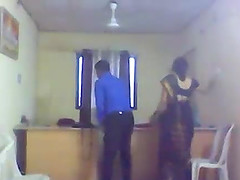Indian married  fucking with boos in office