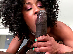 Ebony chick Misty Stone teases by the pool and gets fucked