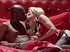 Black man puts his large penis in tight snatch of Jessica Drake