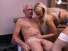 Incredibly Sexy Blonde Nurse Gets Fucked and Facialized By Old Man
